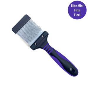 Elite Mini Purple Flexi Brush Firm - Bark & Bath Dog Grooming